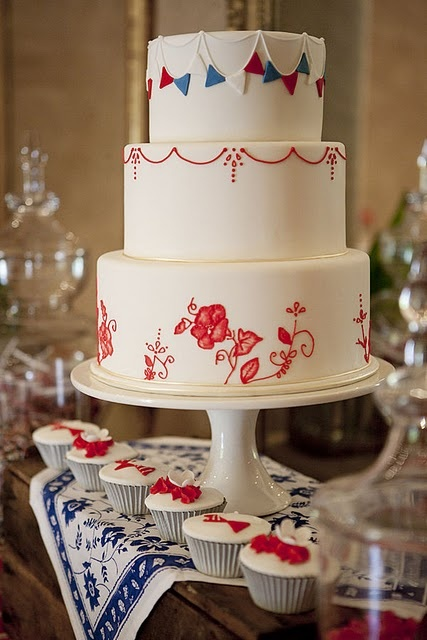 4th of july wedding cake toppers