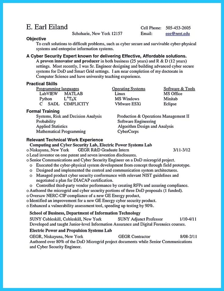 cool Powerful Cyber Security Resume to Get Hired Right Away - cyber security resume