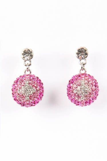 Crystal Drops - Pretty in Pink #earrings