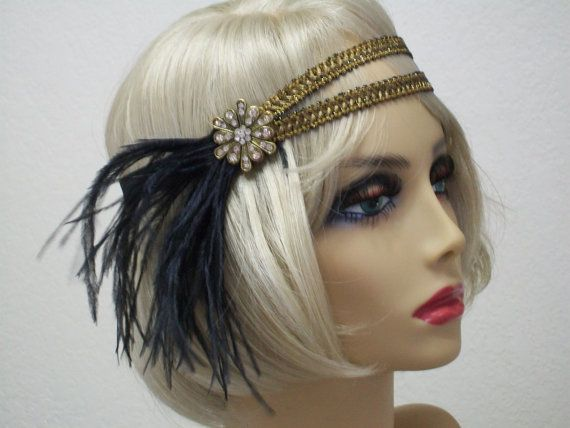 1920s headband Flapper headband 1920s от bloomsfromtheheart                                                                                                                                                                                 More