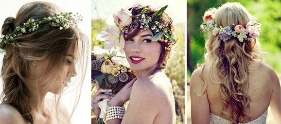 corona de flores naturales http://diquesinovias.com/como-hacer-una-corona-de-flores-para-peinado-de-boda/