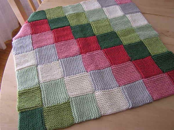 Example of a knitted blanket