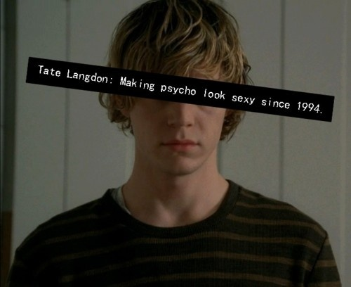 obsessed with this show...Evan Peters you are the most adorable psychopath ever!
