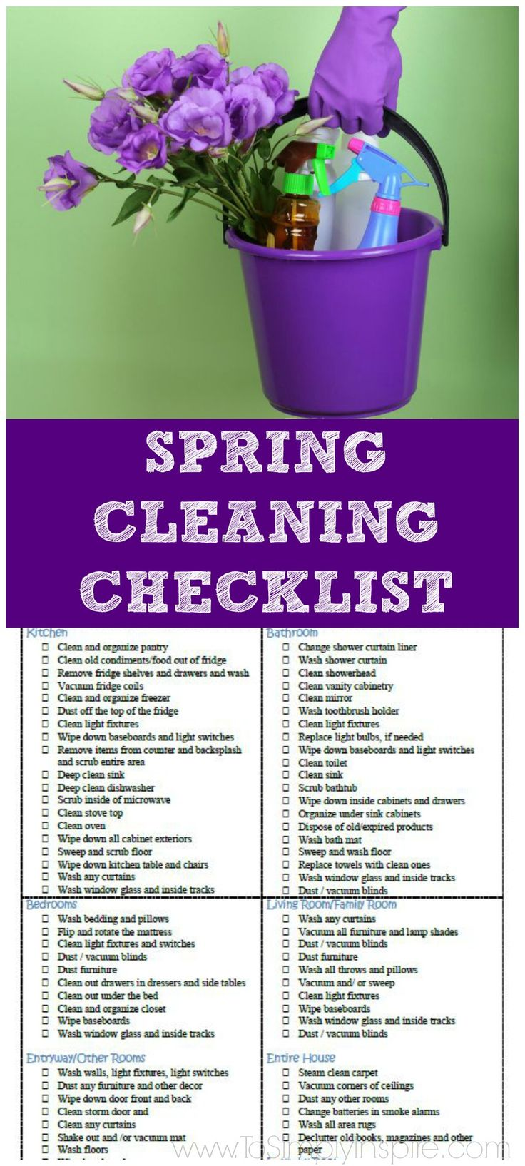 1000+ ideas about Spring Cleaning Schedules on Pinterest  Cleaning Schedules, Spring Cleaning ...