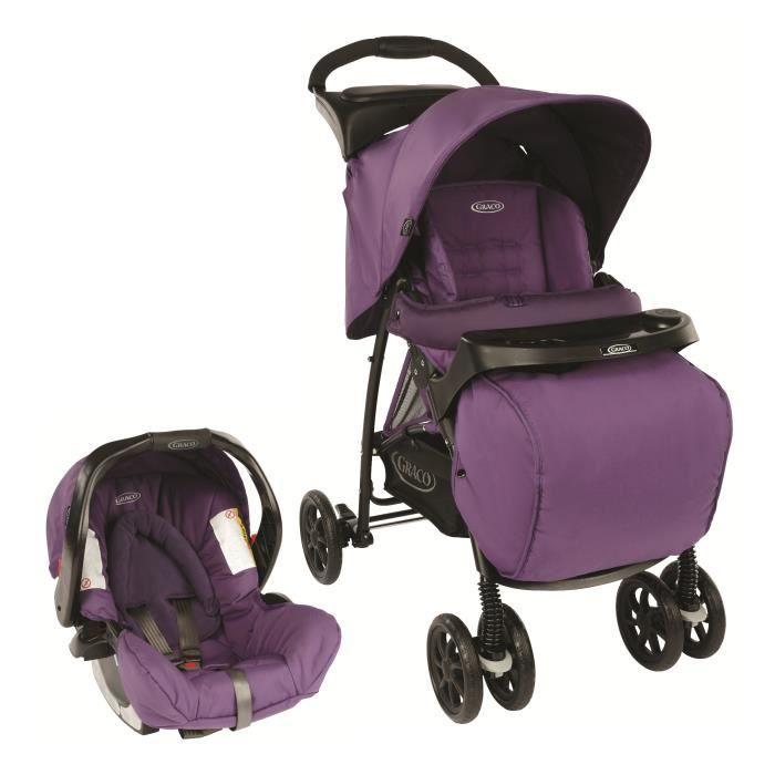150€ Poussette combiné duo mirage plus - Violet - De la naissance à 3 ans environ 0-15kg - Livré à l'unité