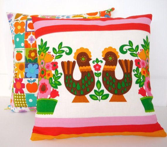 Scandinavian bird cushion pillow cover by Jane by Janefoster, $33.00