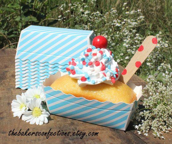 Mini Blue Loaf Baking Pans Blue Stripe Mini Loaf Pans