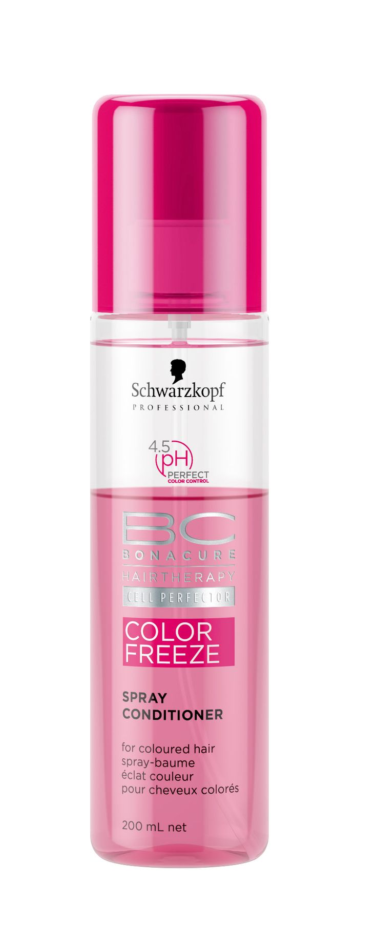 Schwarzkopf Professional BC Hairtherapy Cell Perfector Color Freeze - 4.5 pH Perfect Color Control - Spray Conditioner 200ml.