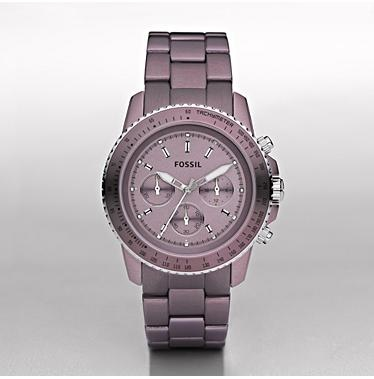 Fossil Canada...Stella Large Aluminum Watch - Purple...Style Number CH2747