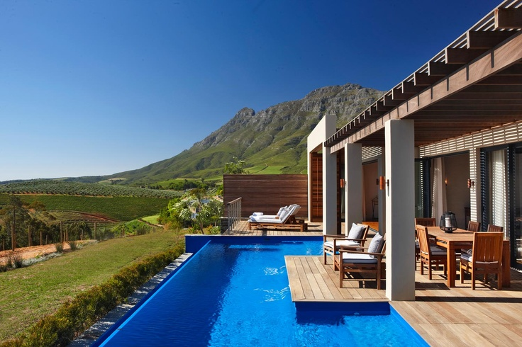 The Most Perfect View - Delaire Graff Estate (Stellenbosch, South Africa) - Situated on the magnificent Helshoogte Pass linking Cape's two leading wine districts, Stellenbosch and Franschhoek.