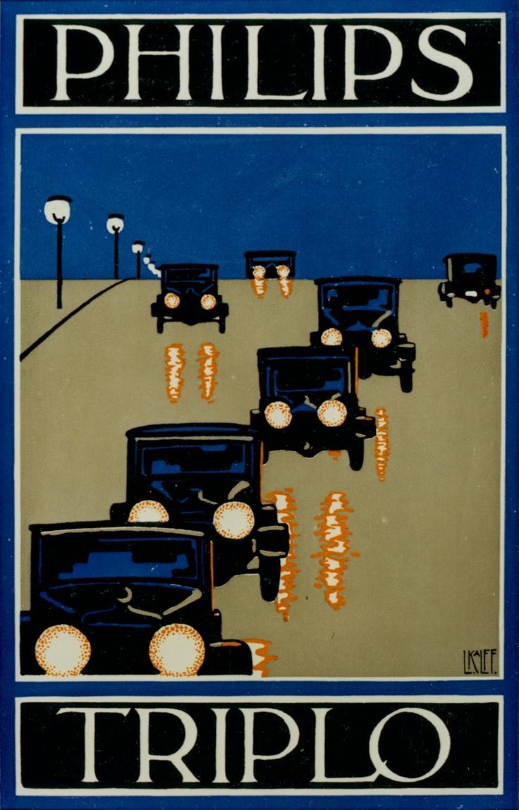 Philips Triplo car autolamp #lighting advert 1920-1930| #vintage #retro