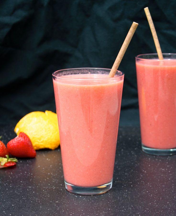 Strawberry Orange Juice Recipe #vegan | Create N Plate