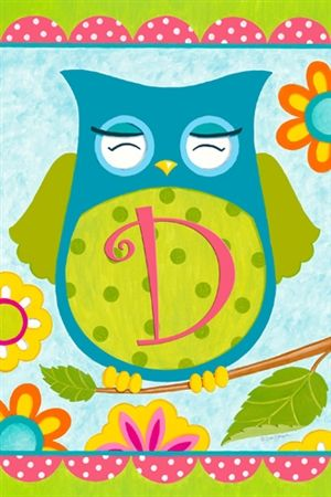 Owl Friends Monogram D, On Sale And FREE Shipping! Fall Garden FlagGarden  ...