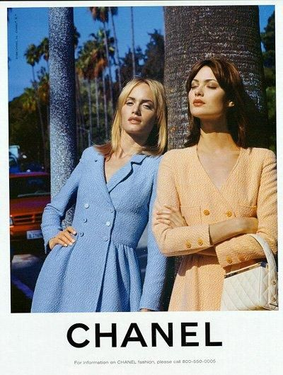 Shalom Harlow & Amber Valletta by Karl Lagerfeld SS 1996