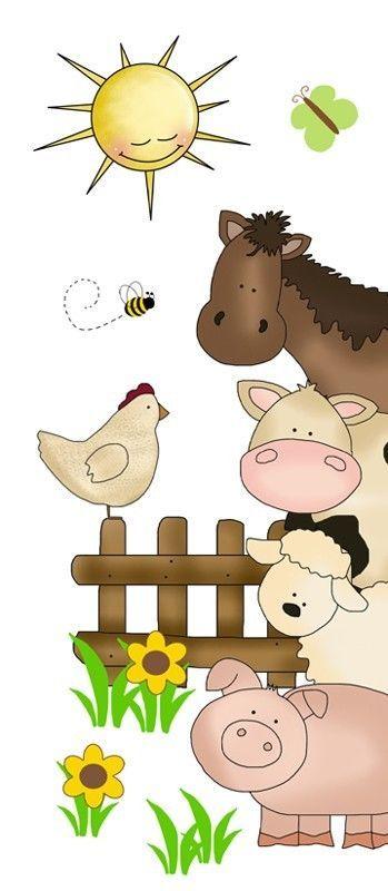 Classroom Decor Animals ~ Details about barnyard farm animals decal wall art mural