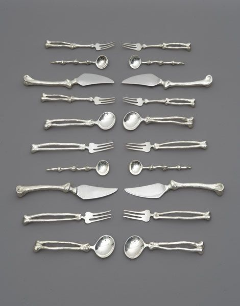 Bone Flatware. Not sure if this should go on the Entertaining Board or the Halloween Board. Halloween wins! (Always.)
