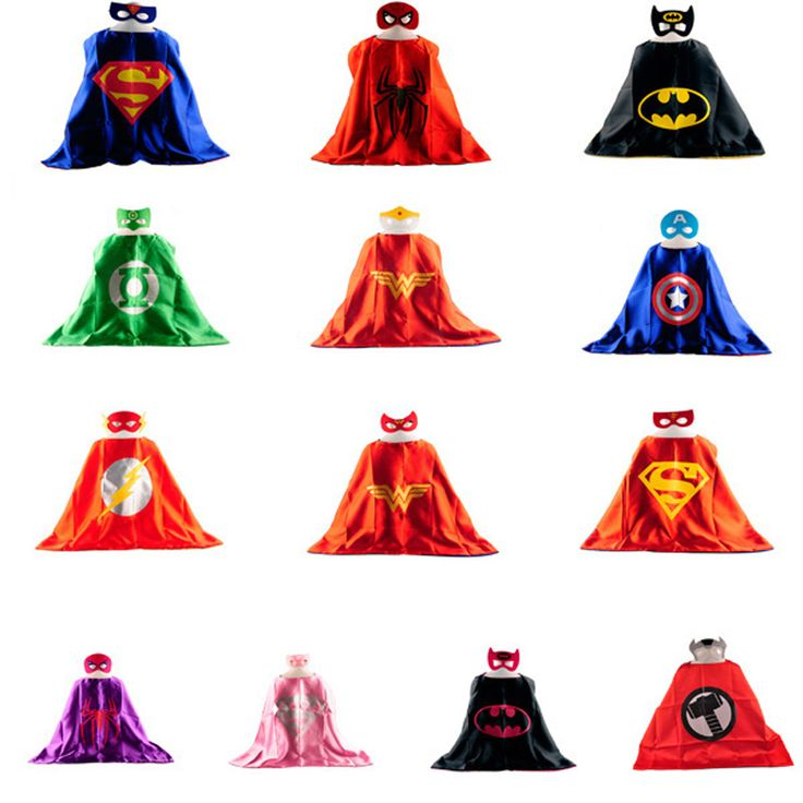 Mask   Cape Superman Superheroes Costume for Boys