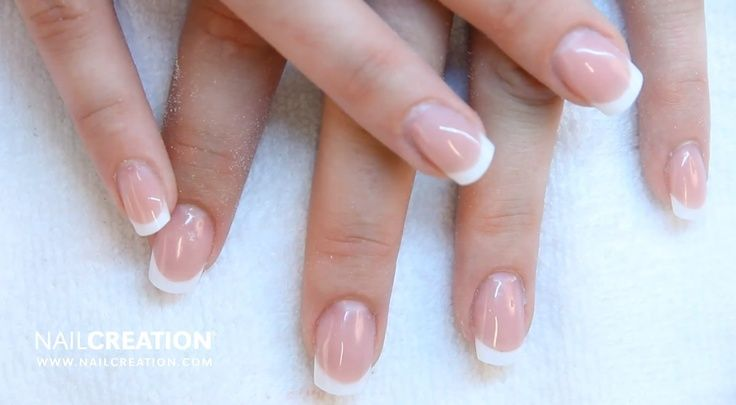 French Manicure using Nail Creation products - www.nailcreation.com