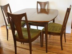 Mid Century Modern Surfboard Dining Table With Broyhill Brasilia Chairs Picked Vintage
