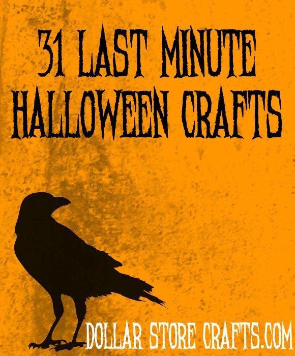 31 last minute halloween craftsLastminute, Dollar Stores Crafts, Blog Archives, Halloween Crafts, Dollar Store Crafts, Crafts Blog, Last Minute Halloween, 30 Last Minute, Halloween Ideas