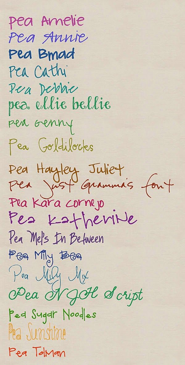 Sherwood Studio Digital Designs by Julie Southern: My Favorite Pea Fonts.