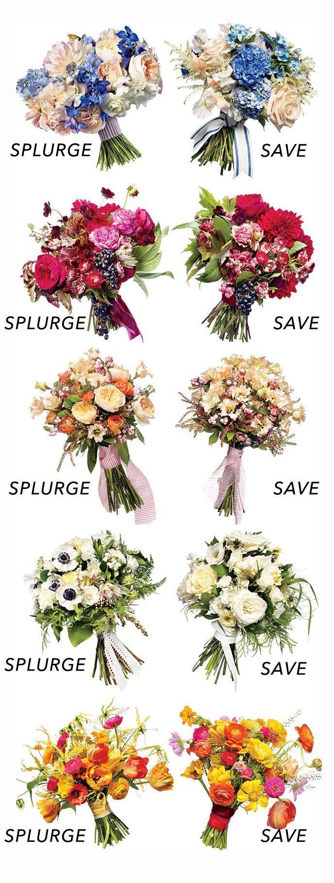 Two Bouquets, Two Budgets: Save vs. Splurge Wedding Flowers.