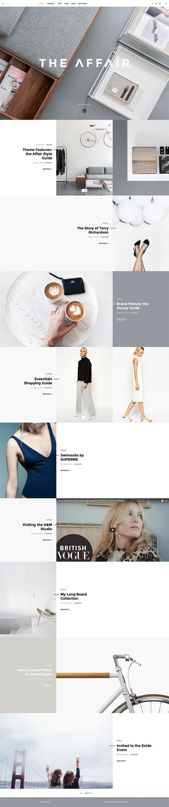 elegant clean layout webpage website inspiration concept white