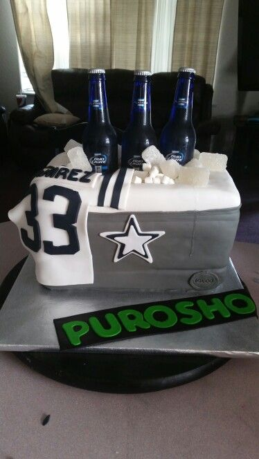 Dallas Cowboys Cake With Beer Cans