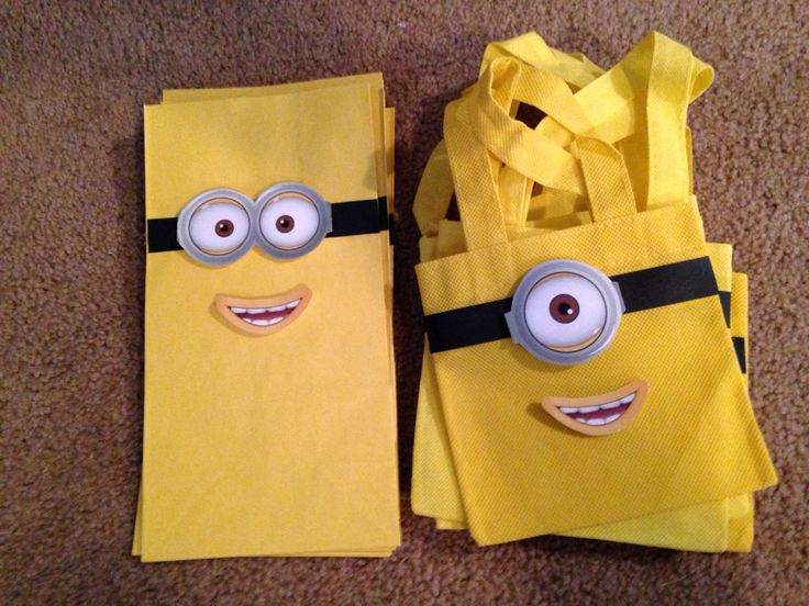 Diy minion bags. Just add eye/eyes and mouth