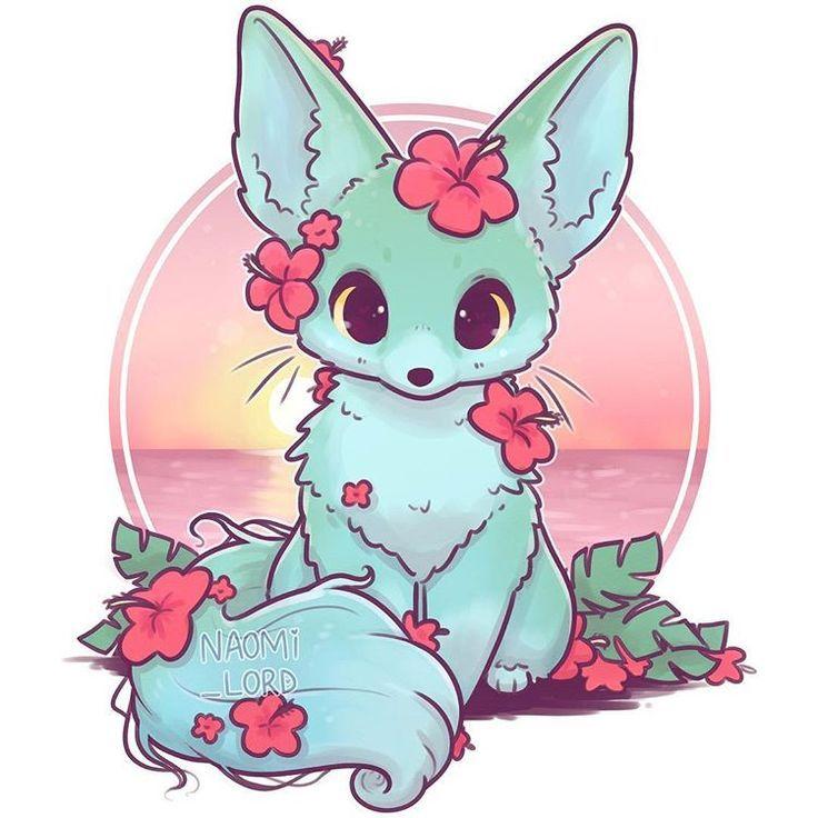 ✨🏝 My Summer Fox design🦊🏝✨ (as part of my seasonal fox series) deci…