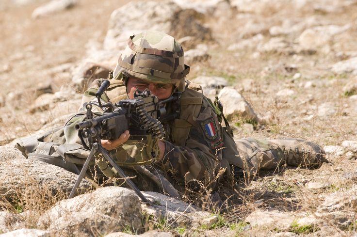 Tireur minimi. © armée de Terre #infanterie