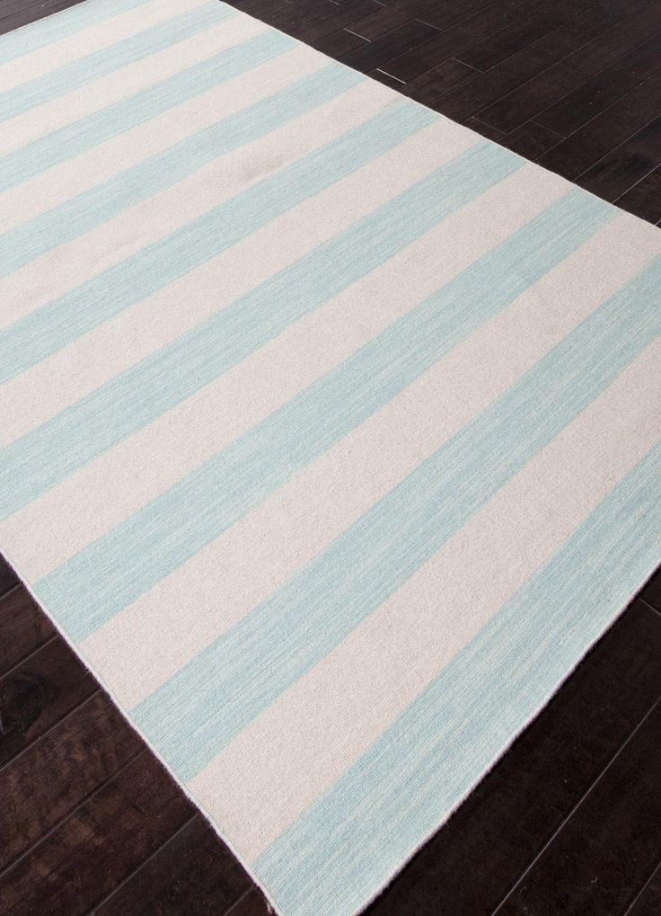 Classic Beach House Style In Our Dias Rug Collection With Fun Wide Bright  Stripes Of Aqua