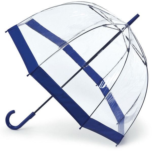 Birdcage see through PVC dome umbrella Navy ❤ liked on Polyvore featuring accessories, umbrellas, dome shaped umbrella, transparent umbrella, navy blue umbrella, dome umbrella and see through umbrella