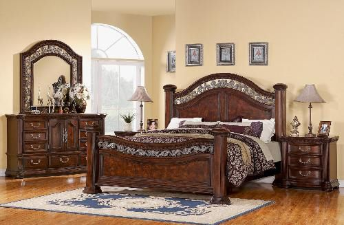 Wynwood Alicante Mansion Bedroom Set In Antigua Cherry Bedroom Pinterest