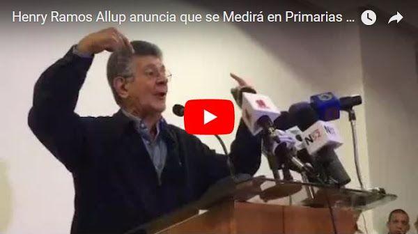 Ramos Allup se lanzó hoy a candidato para las presidenciales