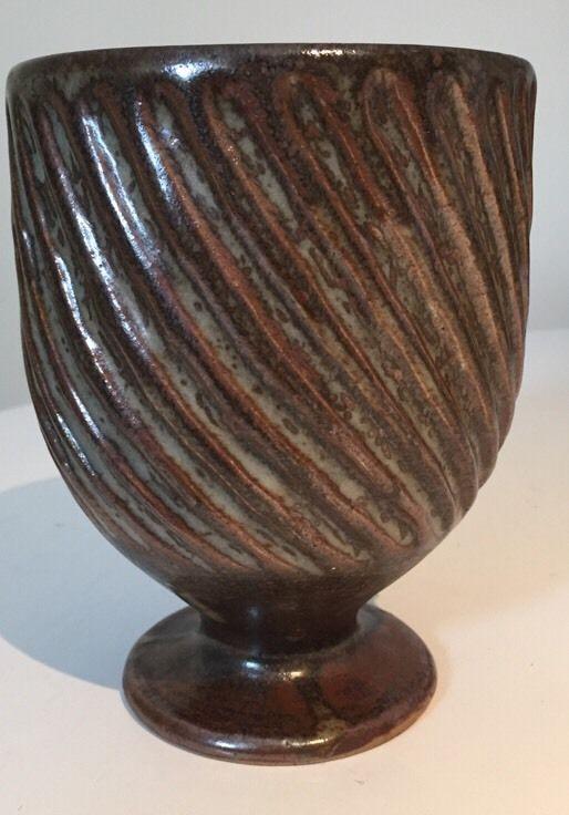 Early DAVID LEACH Aylesford Pottery Goblet Vase The Friars AP Mark 14 cm Studio #Vases