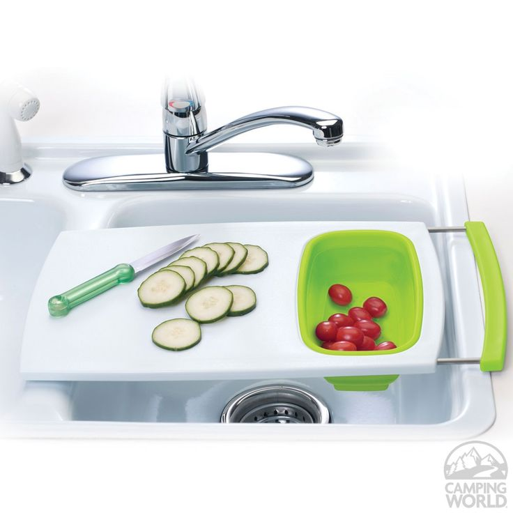 Over The Counter Sinks : Over-the-Sink Cutting Board - Saves counter space & features a small ...