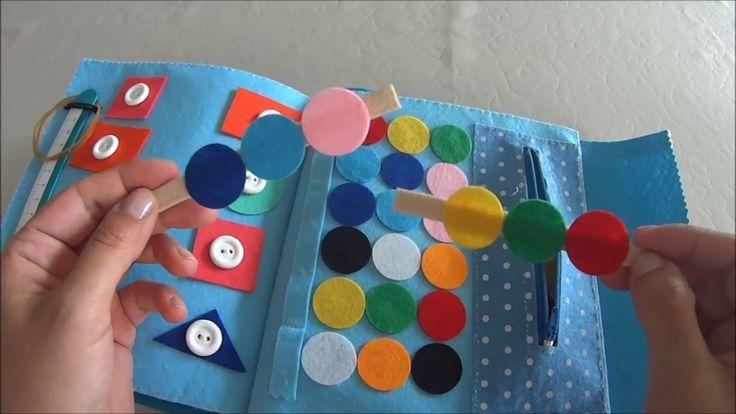 Çocuklar İçin Keçe Aktivite Kitabı Nasıl Yapılır?#VLOG-Felt Quiet Book