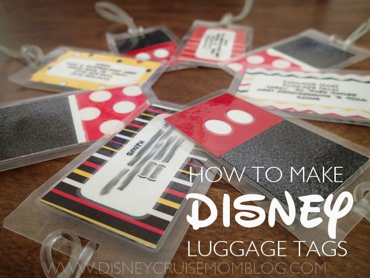 Disney Luggage Tags:  See how I made my own custom Disney luggage tags.  So easy, inexpensive, and CUTE!