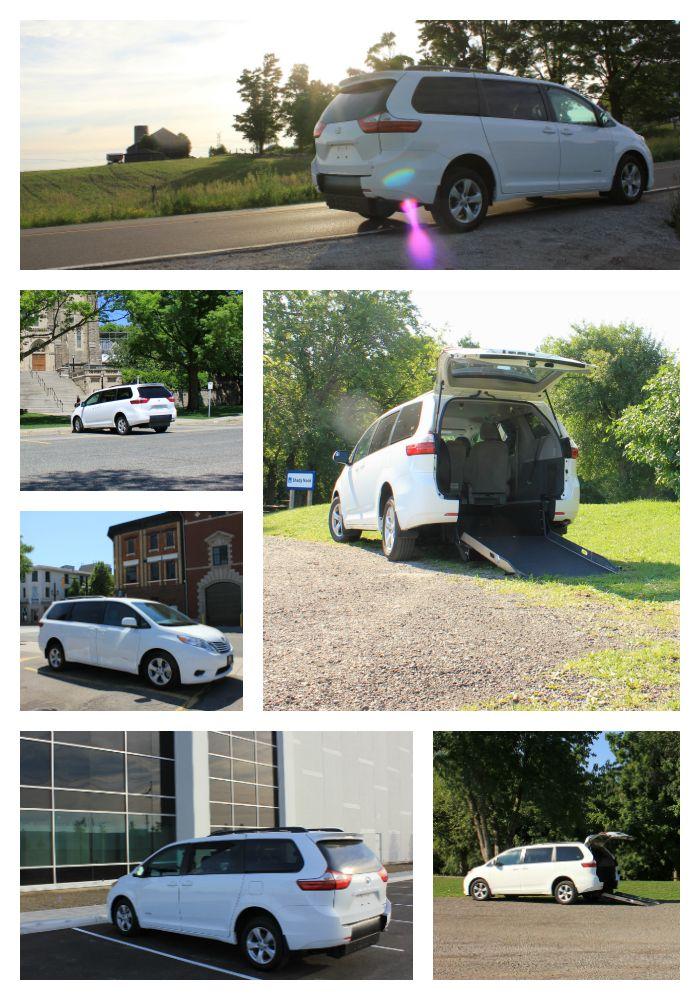 Rear Entry wheelchair conversion for Toyota Sienna van