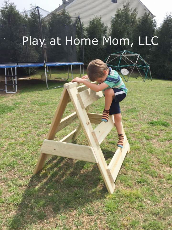 A-frame Climber | Activities For Children | Do It Yourself, Do It Yourself Furniture, Independence, Instilling Capability, Outdoor Play, Play At Home Mom, Sensory Activities | Play At Home Mom