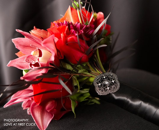Stunning Red Bridal Bouquet By Visual Impact Design Sacramento And Northern California Wedding
