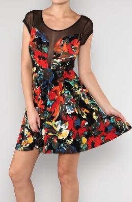 'Arthouse' Mesh Insert Dress