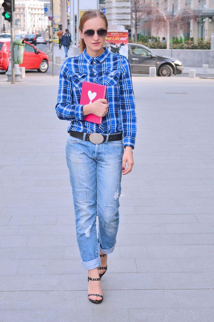 Boyfriend jeans urban outfit street style