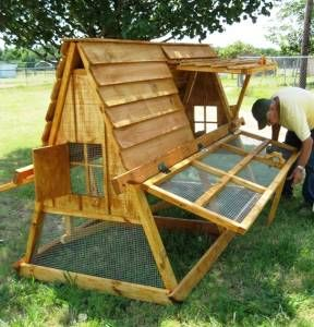 how to build a simple a frame chicken coop