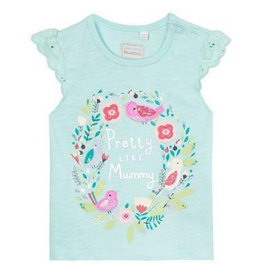 bluezoo Baby girls' aqua applique t-shirt | Debenhams