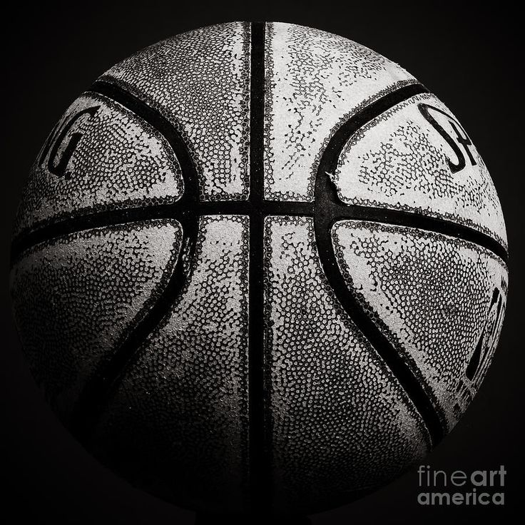 Old Basketball - Black And White Photograph  - Old Basketball - Black And White Fine Art Print