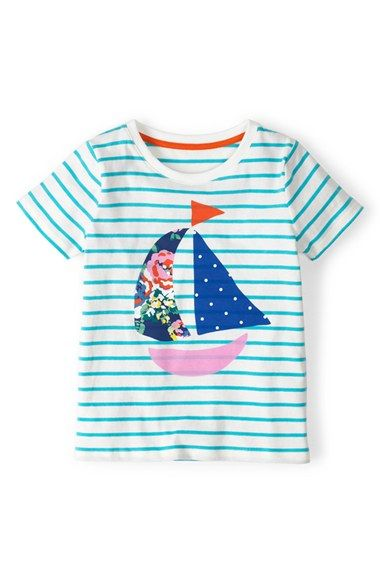 Mini Boden Stripe Appliqué Tee (Toddler Girls, Little Girls & Big Girls) available at #Nordstrom