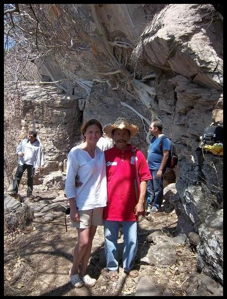 Exiquio Santiago, International speaker & official chronicler of the 'Mezcala Island' in Jalisco, & Patty Aguirre.