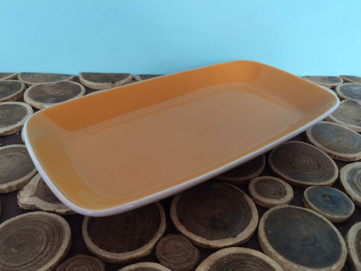 Mikasa Duplex by Ben Seibel - Small Relish Tray or Dish - Orange and White - Midcentury Modern Vintage Dinnerware by 20thCKitchenAndTable on Etsy